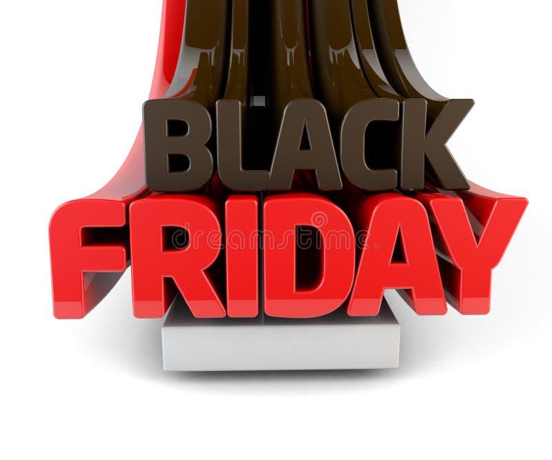Black Friday 3d Render stock illustration. Illustration of discount ...