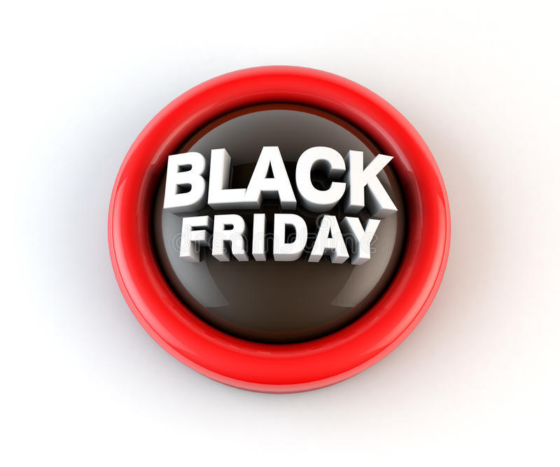 Black Friday 3d Render stock illustration. Illustration of label ...