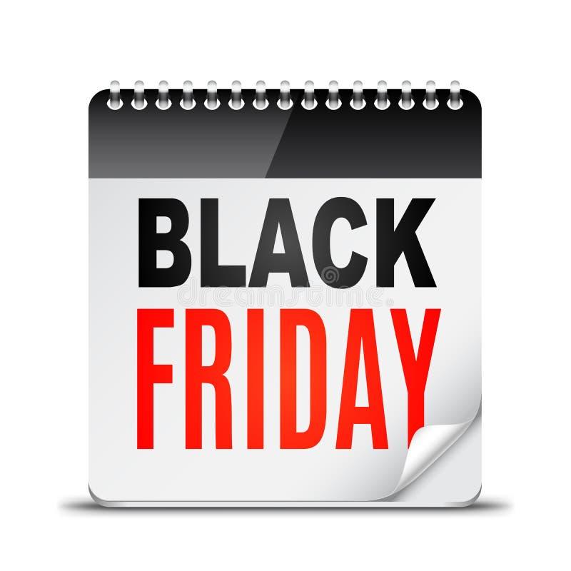 black friday day calendar stock vector image of offer 62050477. Black Bedroom Furniture Sets. Home Design Ideas