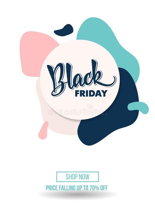 Black Friday-de affiche van de promoaanbieding van de verkoopkorting of reclamevlieg royalty-vrije stock afbeeldingen