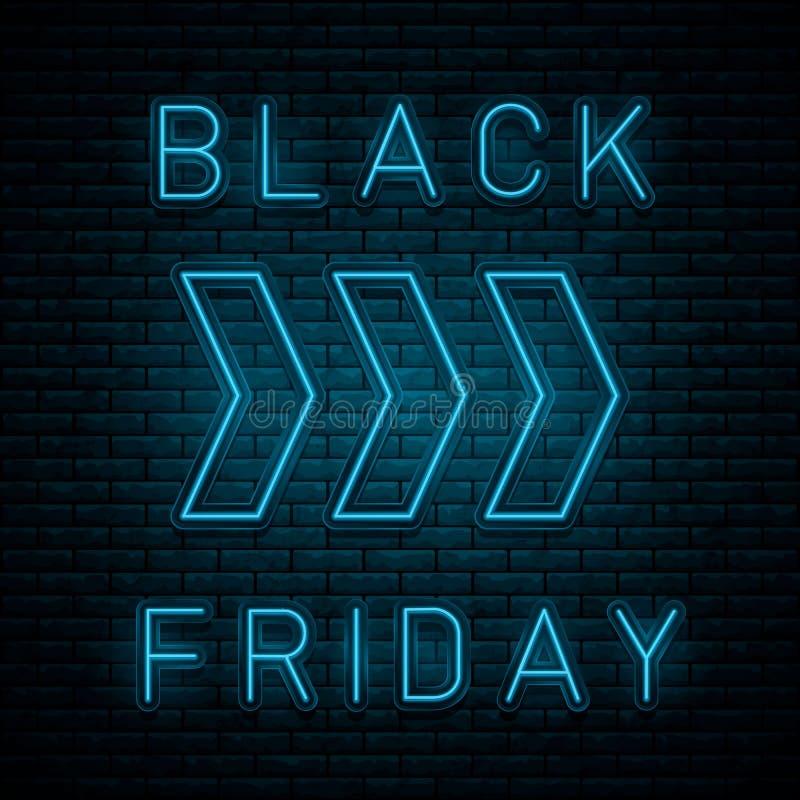 Black Friday de neón stock de ilustración