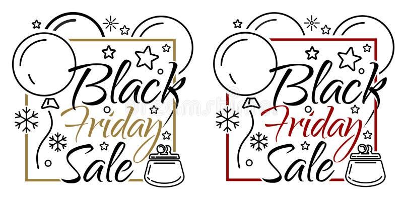 Black Friday-de reeks van de verkoopbanner vector illustratie