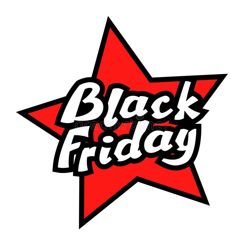 Black Friday-de vector vlakke illustratie van de Verkoopaffiche vector illustratie