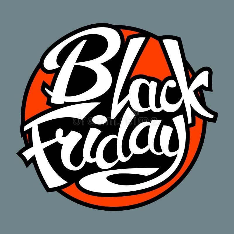 Black Friday-de vector vlakke illustratie van de verkoopmarkering stock illustratie