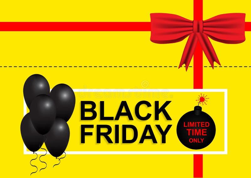 Black Friday, descuentos, venta, bandera, aviador libre illustration