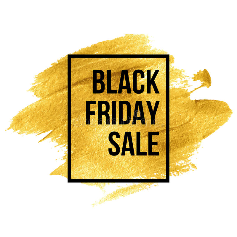 Free Black Friday Designs On Gold Blob. Vector Stock Image - 60243911