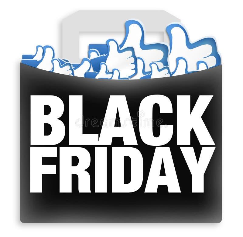 Black Friday die houdt van winkelen vector illustratie