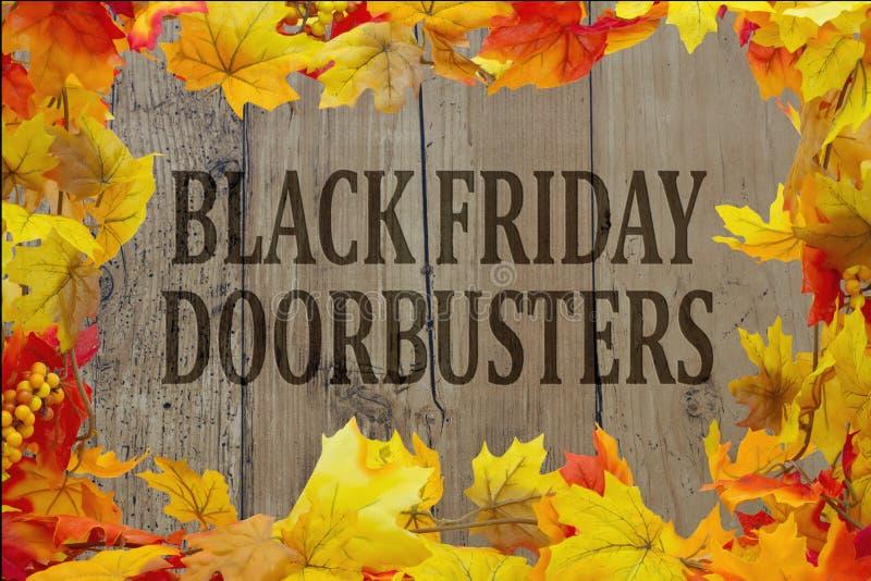 Black Friday Doorbusters de achat image stock