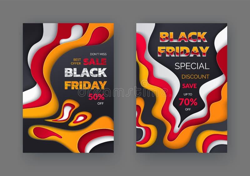 Black Friday explosion av priset Sale upp till 50 och 70 stock illustrationer