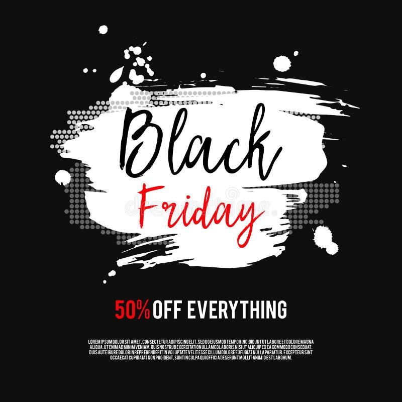 Black Friday försäljningsaffisch royaltyfri illustrationer