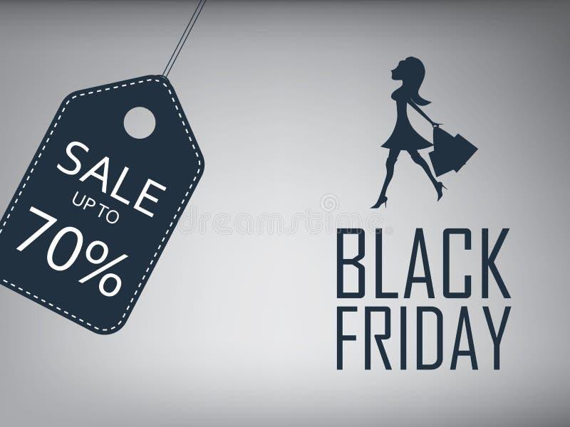 Black Friday försäljningsaffisch Mall för specialt erbjudande stock illustrationer