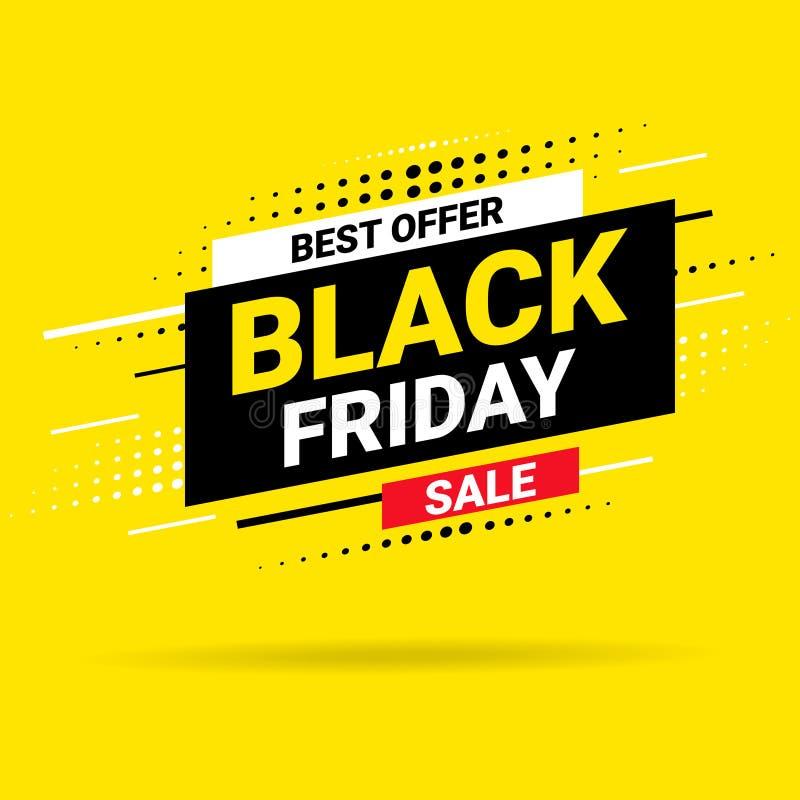 Black Friday f?rs?ljningsaffisch Modernt begrepp f?r r?kningsdesign Shoppa rabattbefordran Sale orienteringsbakgrund för vektor illustrationer