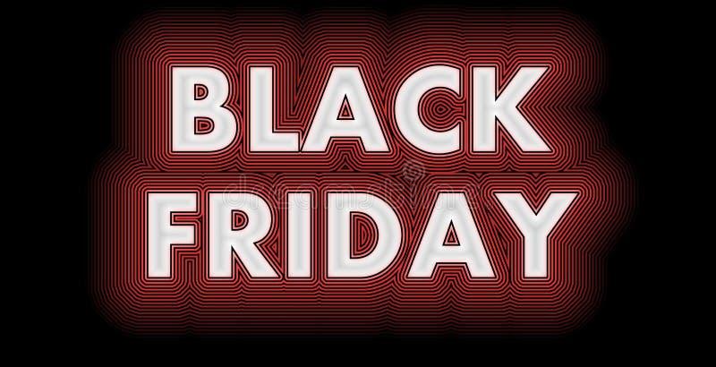 Black Friday firma adentro brillante blanco stock de ilustración