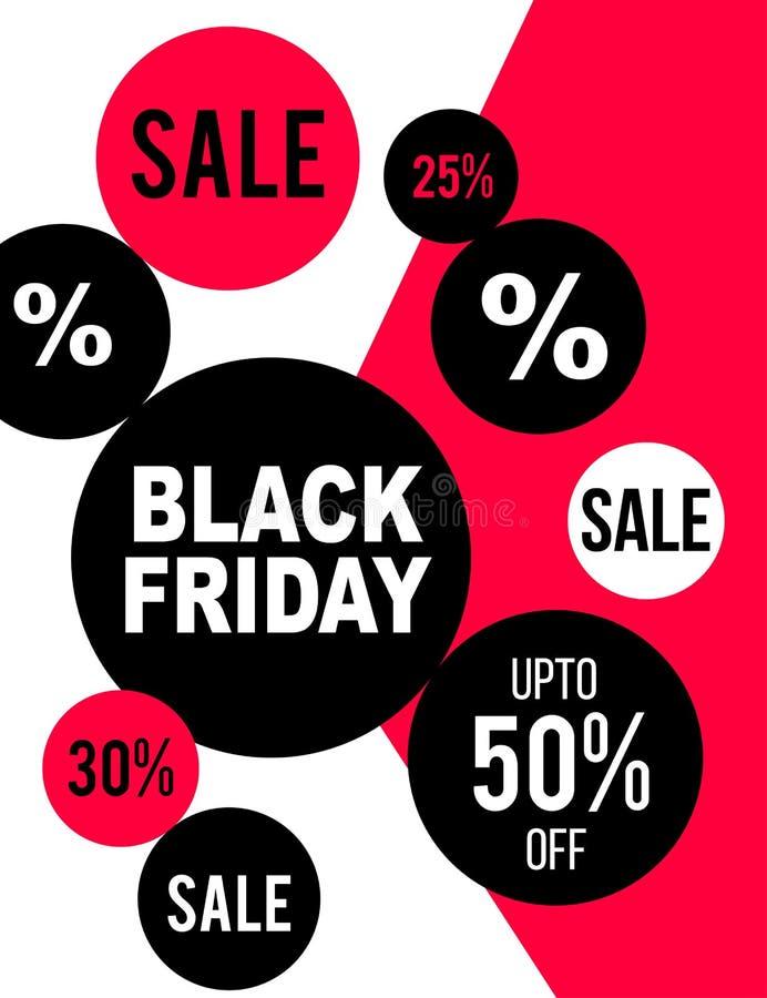 Black Friday flyer design stock illustration