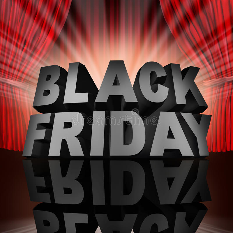 Black Friday-Gebeurtenis vector illustratie