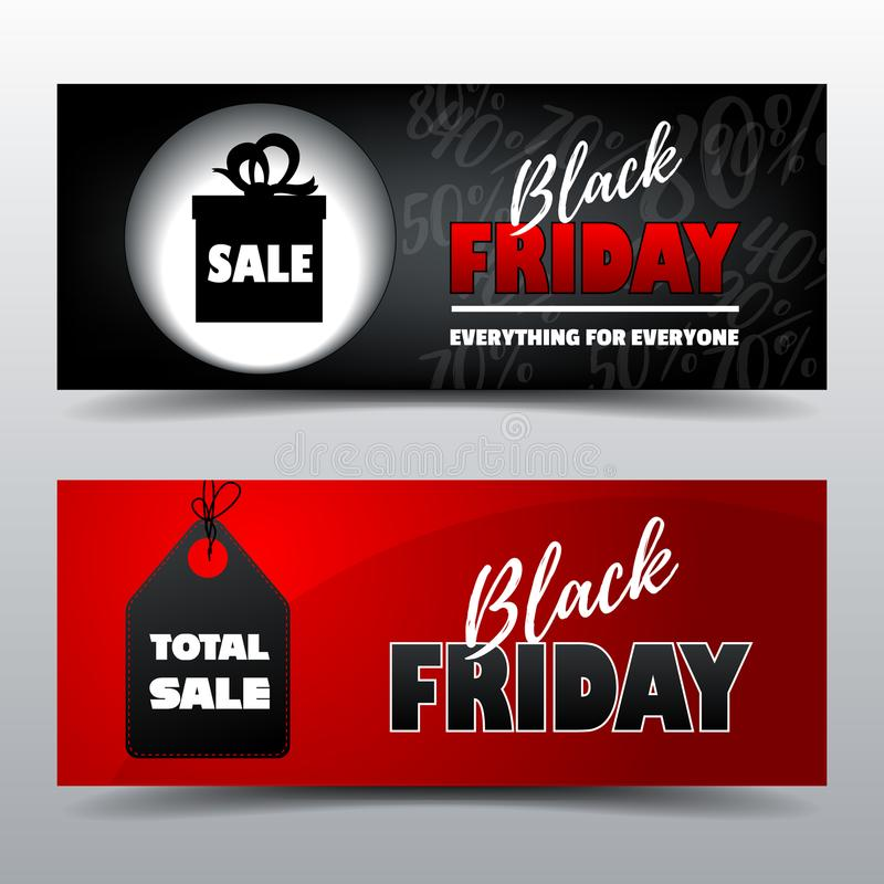 Black Friday gift card template royalty free stock photo
