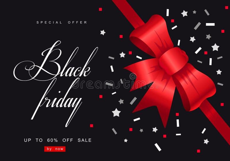 Black Friday, Grote Verkoop, creatief malplaatje op vlak ontwerp stock illustratie