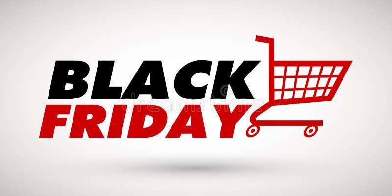 Black Friday-het malplaatje van de verkoopbanner vector illustratie
