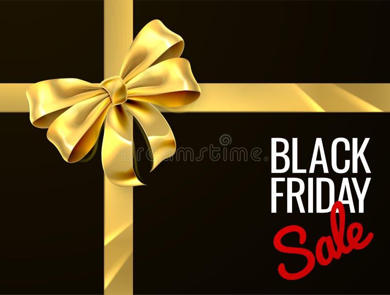 Black Friday-het Ontwerp van het de Booglint van de Verkoopgift stock illustratie