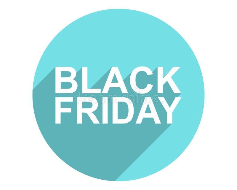 Black Friday Icon. Black friday drop shadow icon royalty free illustration