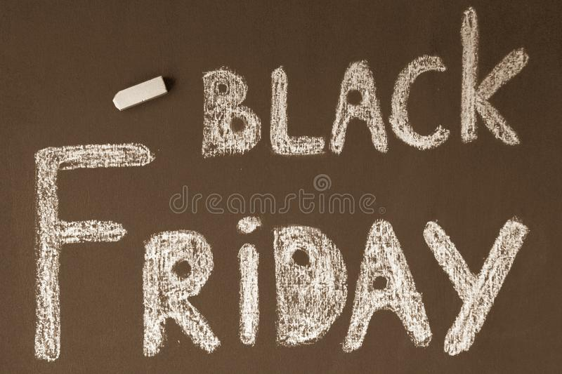 Black Friday Informing royalty free stock image