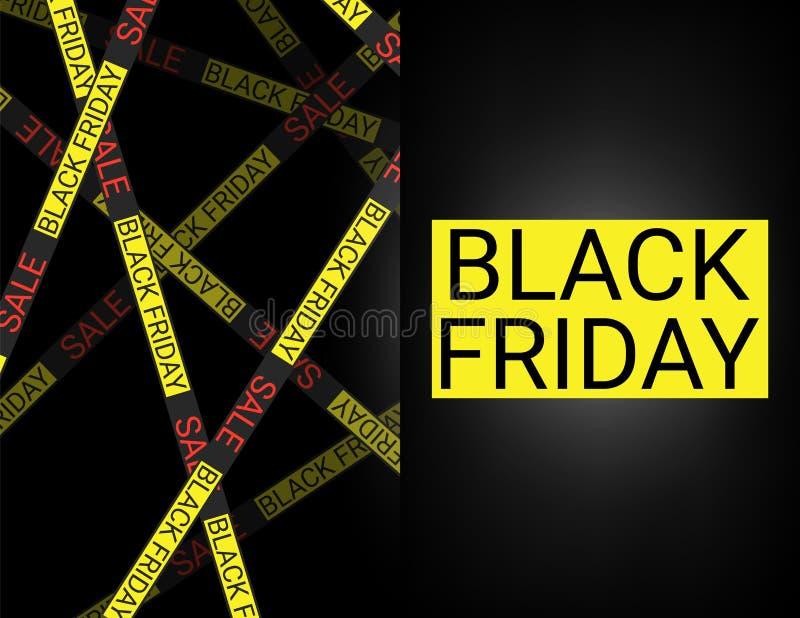 Black Friday-inschrijving op abstracte inktvlekken voor verkoop en korting, malplaatje voor uw banner of affiche vector illustratie