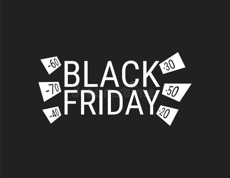 Black Friday-inschrijving op abstracte inktvlekken voor verkoop en korting, malplaatje voor uw banner of affiche royalty-vrije illustratie