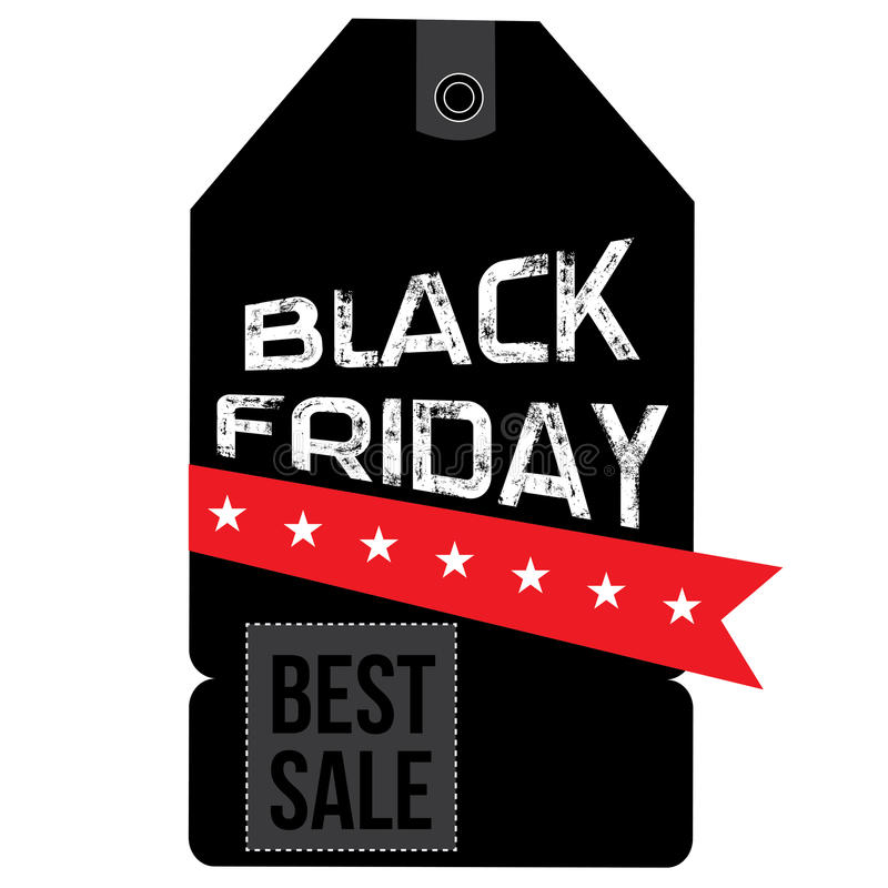 Black friday label. Isolated black friday label on a white background, Vector illustration stock illustration