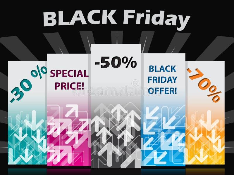 Black Friday Label Set Royalty Free Stock Image