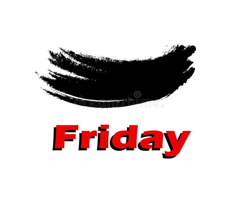 Black Friday ler på dig stock illustrationer