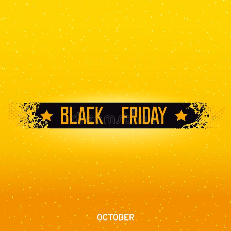 Black friday lettering on damage ribbon royalty free stock photos