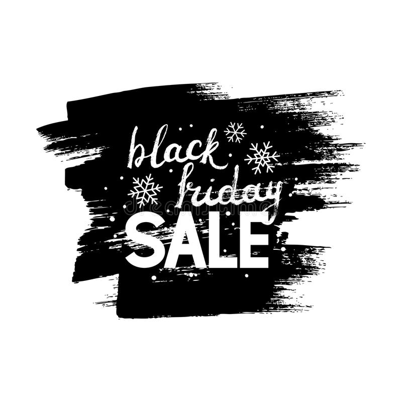 Black friday lettering stock illustration
