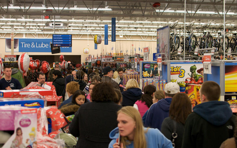 Download Black Friday Madness editorial stock photo. Image of crowds - 17205468
