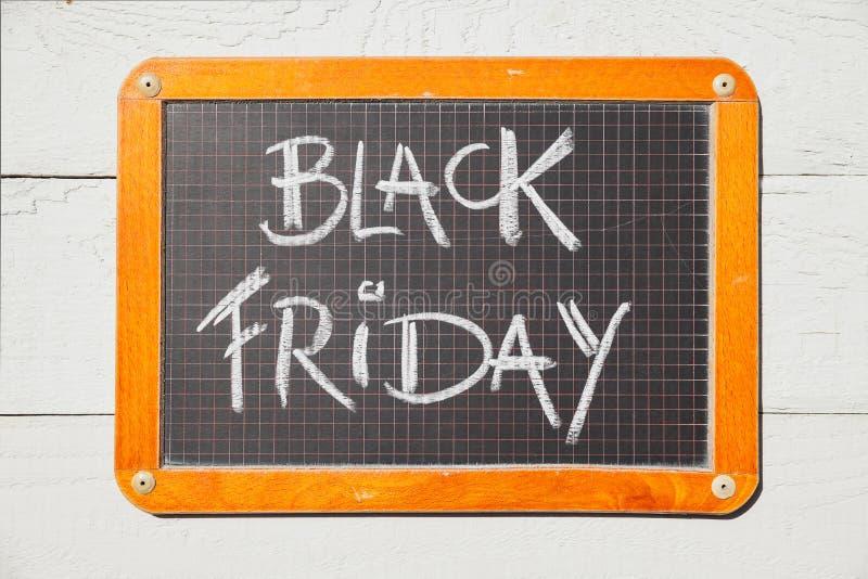 Black Friday manuscrit sur le tableau photos libres de droits