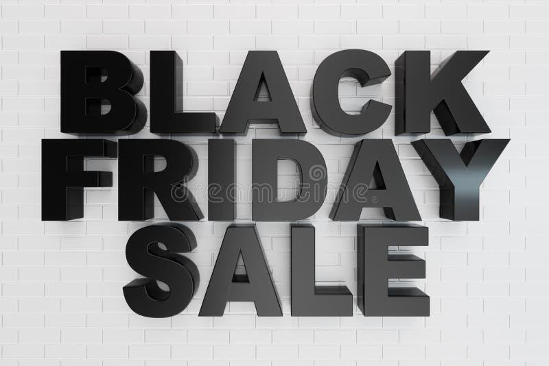 Black Friday, mensaje de la venta para la tienda Bandera de la tienda del negocio que hace compras para Black Friday Black Friday ilustración del vector
