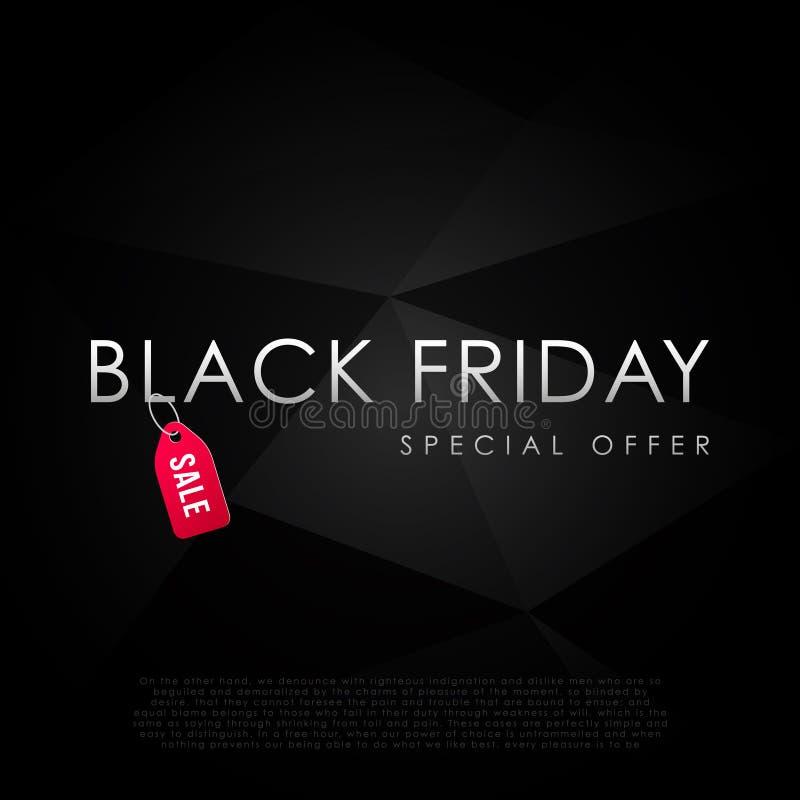 Black Friday, oferta especial, molde do projeto da inscrição ilustração royalty free