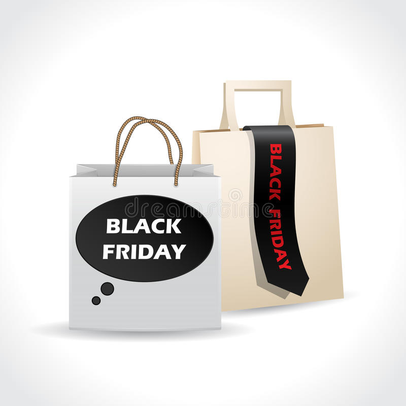 Download Black Friday Paperbags On White Background Stock Vector - Illustration: 34747309