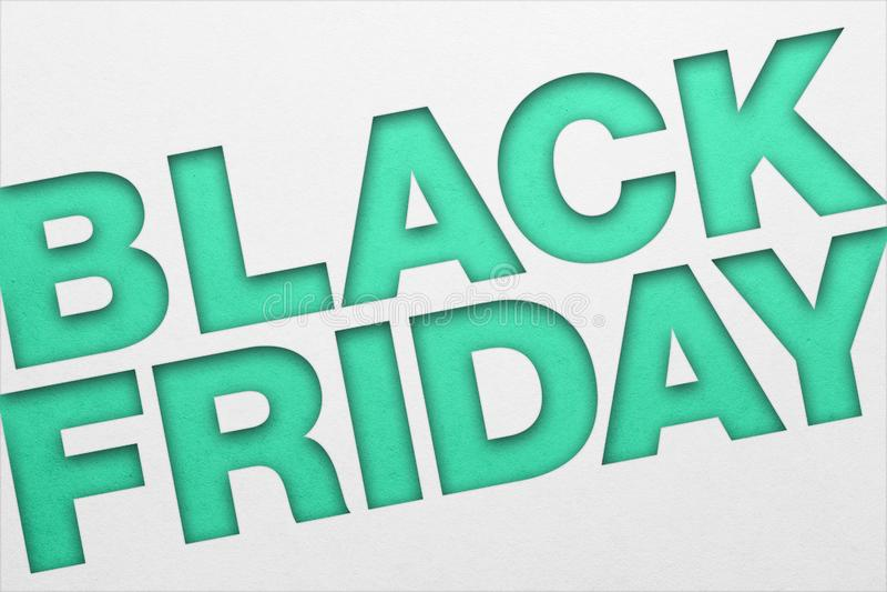 Black Friday plakat fotografia stock