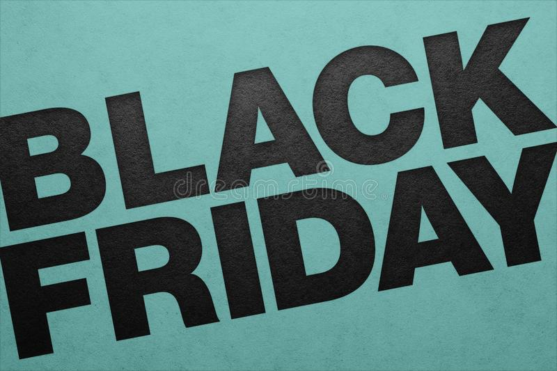 Black friday poster. Paper texture. Material design stock images