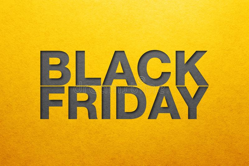 Black friday poster. Paper texture. Material design stock image