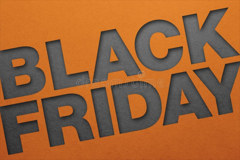 Black friday poster. Paper texture. Material design royalty free stock photo