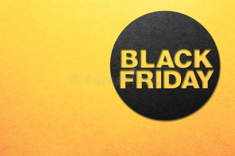 Black friday poster. Paper texture. Place for text stock photo