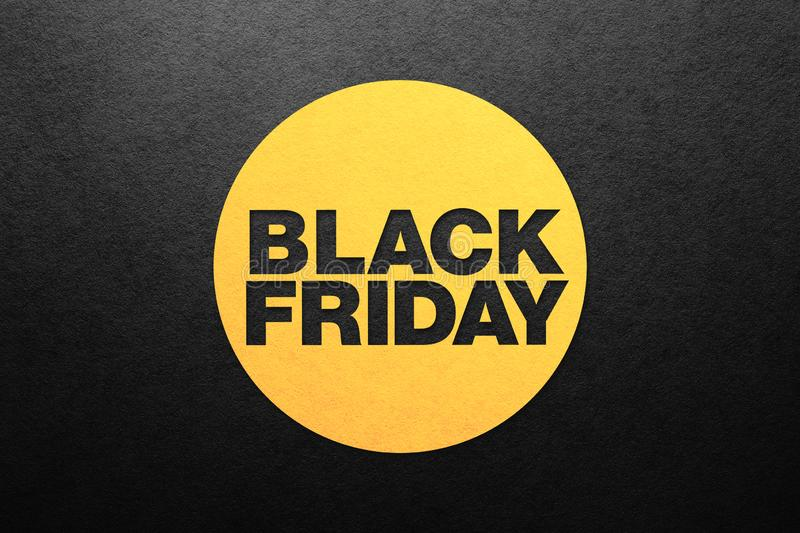 Black friday poster. Paper texture. Place for text royalty free stock photography