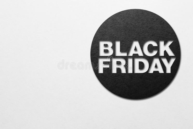 Black friday poster. Paper texture. Place for text royalty free stock image
