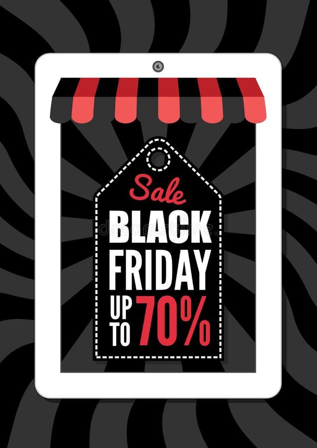 Black Friday, progettazione di commercio elettronico royalty illustrazione gratis
