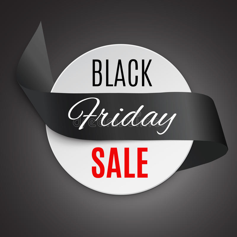 Free Black Friday Ribbon Royalty Free Stock Photos - 79262098