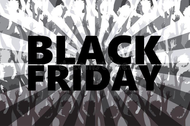 Black Friday rusar vektor illustrationer