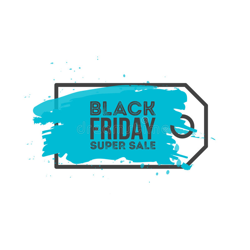 Black Friday Sale Abstract background. Grunge watercolor brush label price tag. Vector Illustration for your business royalty free illustration