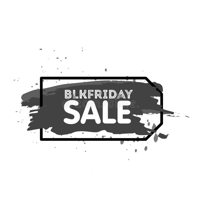 Black Friday Sale Abstract background. Grunge watercolor brush label price tag. Vector Illustration for your business stock illustration