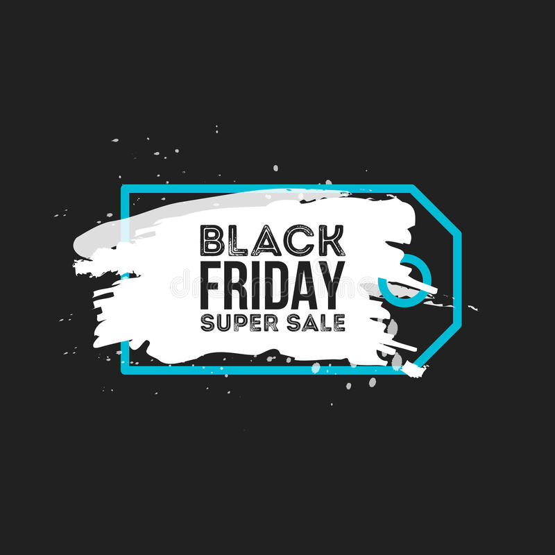 Black Friday Sale Abstract background. Grunge watercolor brush label price tag. Vector Illustration for your business vector illustration